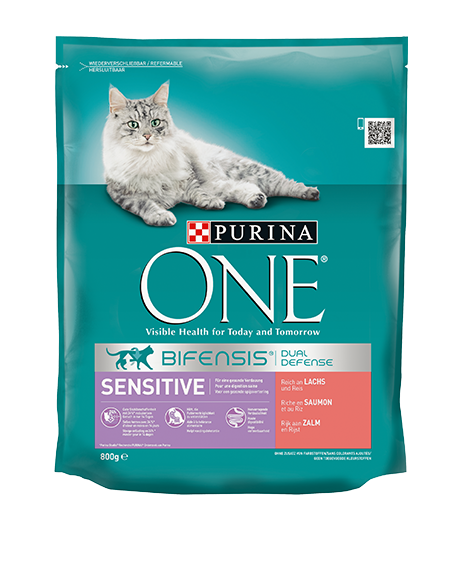 PURINA ONE Sensitive, Reich an Lachs und Reis