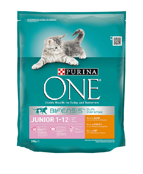 PURINA ONE Junior 1-12 Monate, Reich an Huhn, mit Vollkorn-Getreide