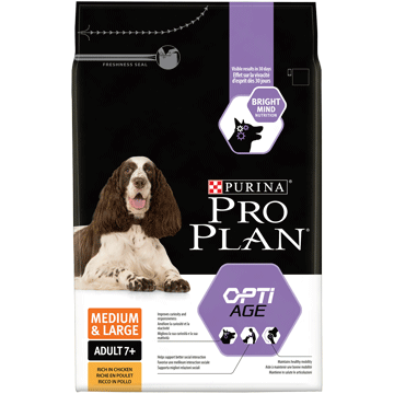 ​PURINA® PRO PLAN® CHIEN MEDIUM & LARGE ADULT 7+ AVEC OPTIAGE™ RICHE EN POULET