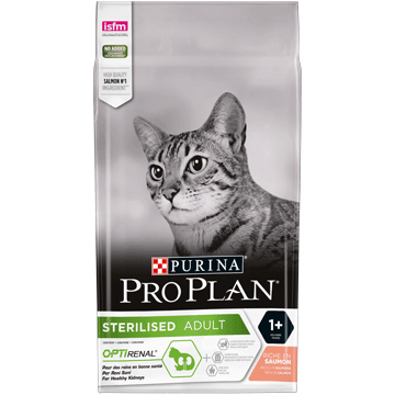 PURINA® PRO PLAN® STERILISED mit OPTIRENAL reich an Lachs