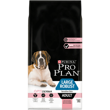 PURINA® PRO PLAN® Large Robust Adult für sensible Haut mit OPTIDERMA® Reich an Lachs