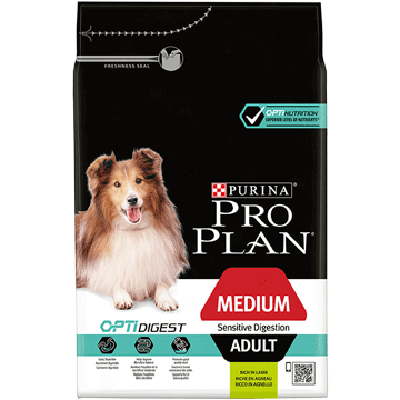​​CROQUETTES POUR CHIEN PURINA® PRO PLAN® MEDIUM ADULT SENSITIVE DIGESTION avec OPTIDIGEST™ - Riche en Agneau
