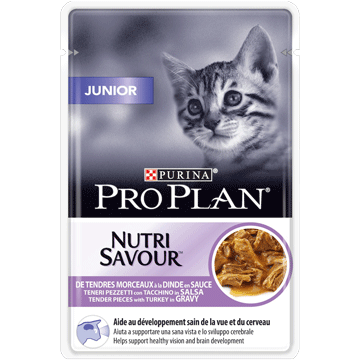 PURINA® PRO PLAN® JUNIOR NUTRISAVOUR tender pieces with turkey in gravy Front_4.pn